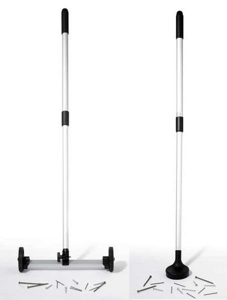 Set of 2 Magnetic Floor Sweepers - 1 Light Duty Rolling Magnet and 1 Magnet Hand Floor Sweeper