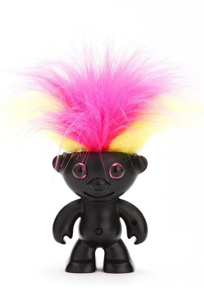 ElektroKidz - Matte Black - Dancing Hair Troll Toy by WowWee