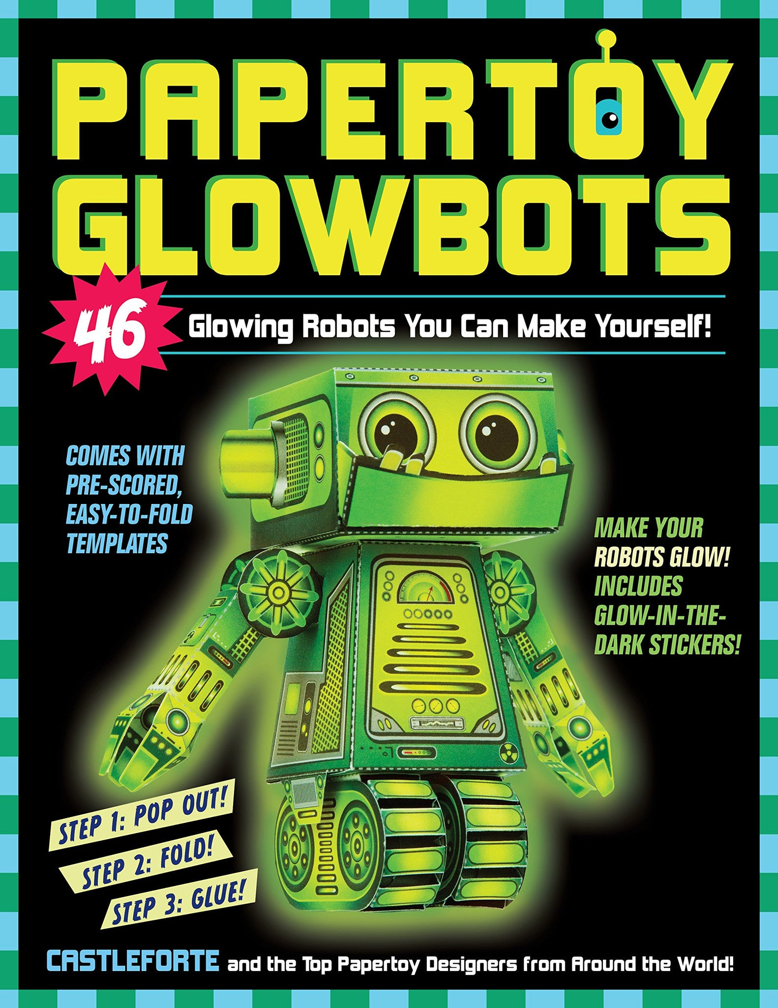 Papertoy Glowbots 46 Glowing Robots You Can Make Yourself