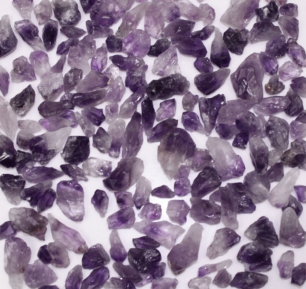 One Pound Unpolished Amethyst Gemstone Crystals