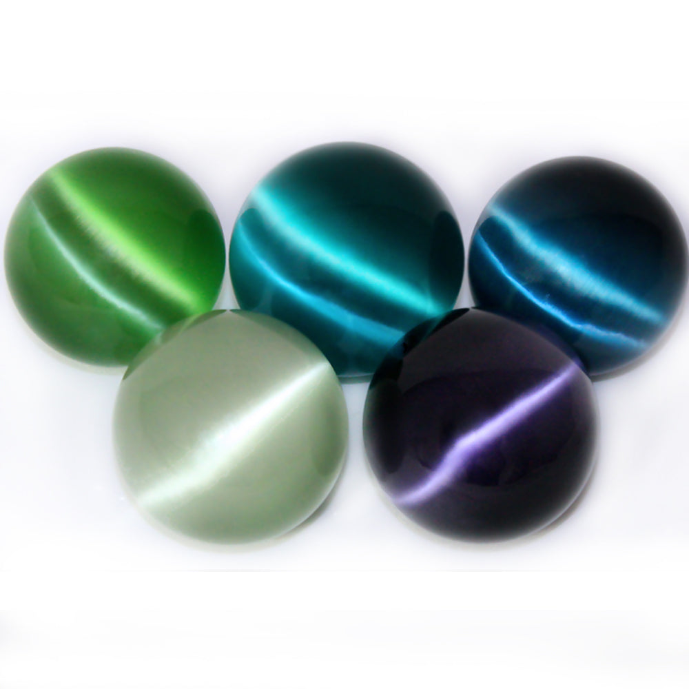 Cat's Eye Fiber Optic Glass Sphere - Extra Large - Approx 60 mm (Assorted Colors) w Info Card