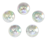 "7/8-Inch ""Soap Bubble"" Marble 22mm Shooters - Pack of 5 w/Stands"