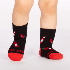 Sock It To Me Mild Sauce Toddler Crew Socks