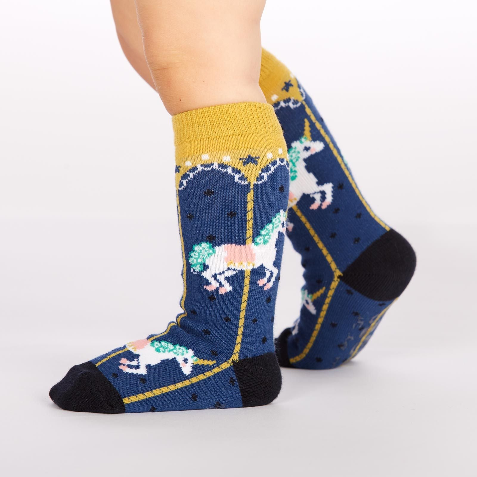 Sock It To Me Carousel Toddler Knee Socks