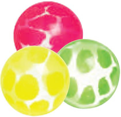 3 Pattern Hi Bounce Balls; 1.75 Inches; Assorted Colors; Party Favor - Off The Wall Toys and Gifts