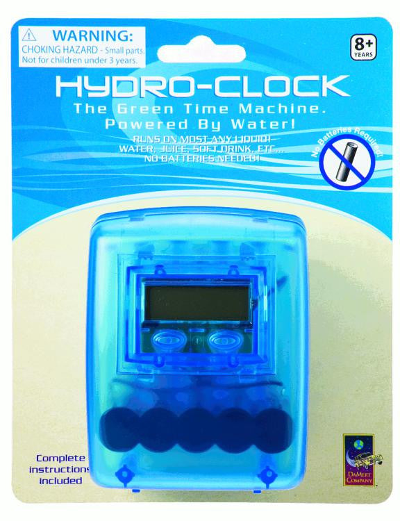 Large Hydro Time Clock Runs on Water Green Science - Off The Wall Toys and Gifts