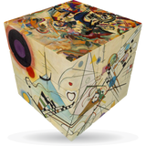 Art Emotions Kandinsky V-Cube 3 Puzzle Cube, with Flat Sides