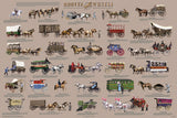 Laminated - Hooves & Wheels Transportation History Poster/Chart 24x36 - Off The Wall Toys and Gifts