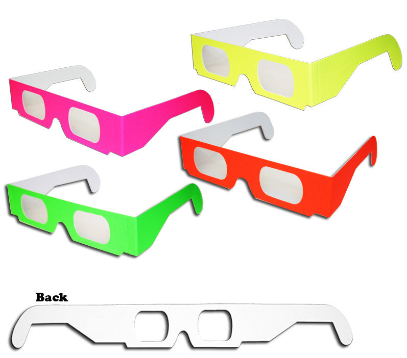 1, 10, 16 or 20 pairs of 3D Fireworks Glasses Neon Multi-Starbursts of 3D Color