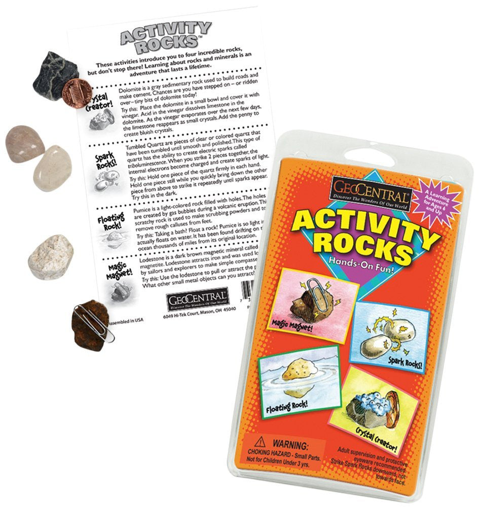 GeoCentral Activity Rocks - Experimental Geology Kit - Off The Wall Toys and Gifts