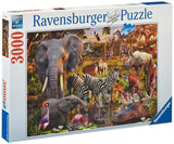 3000 Piece African Animal World Puzzle by Ravensburger - Off The Wall Toys and Gifts