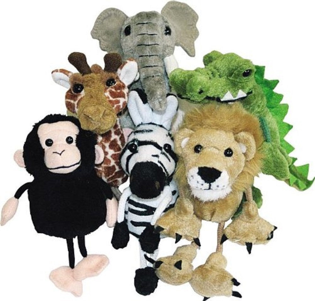 African Animals Finger Puppets - Set of 6 - The Puppet Company - Off The Wall Toys and Gifts