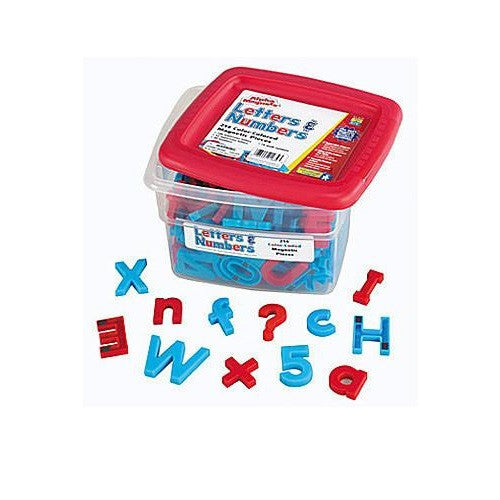 AlphaMagnets & MathMagnets Color Coded; 214 Pieces - Off The Wall Toys and Gifts