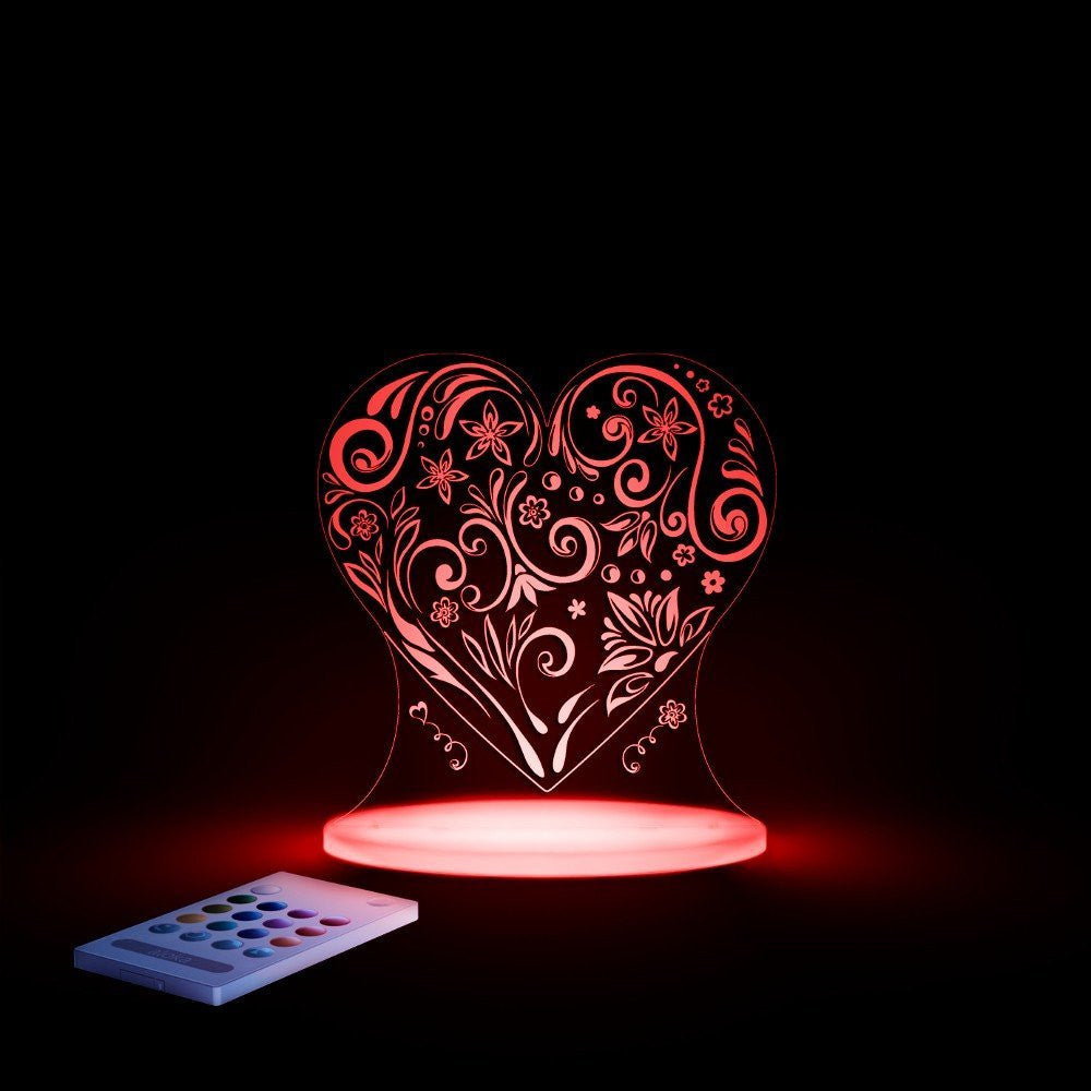 Love Heart SleepyLights Multi-Color LED Night Light