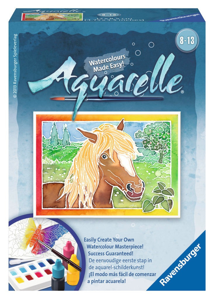 Aquarelle Mini WaterColor Arts & Crafts Kit by Ravensburger - HORSE - Off The Wall Toys and Gifts