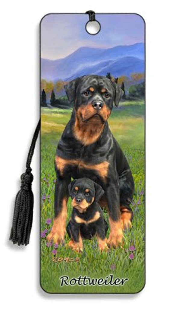 Rottweiler Dog 3D Lenticular Bookmark by Artgame