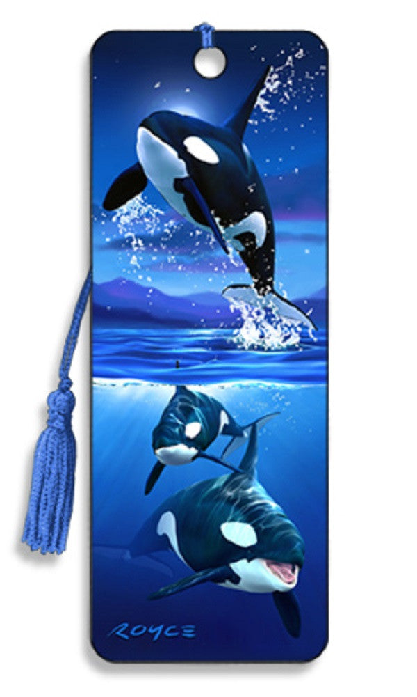 Orcas Whale 3D Lenticular Bookmark by Artgame