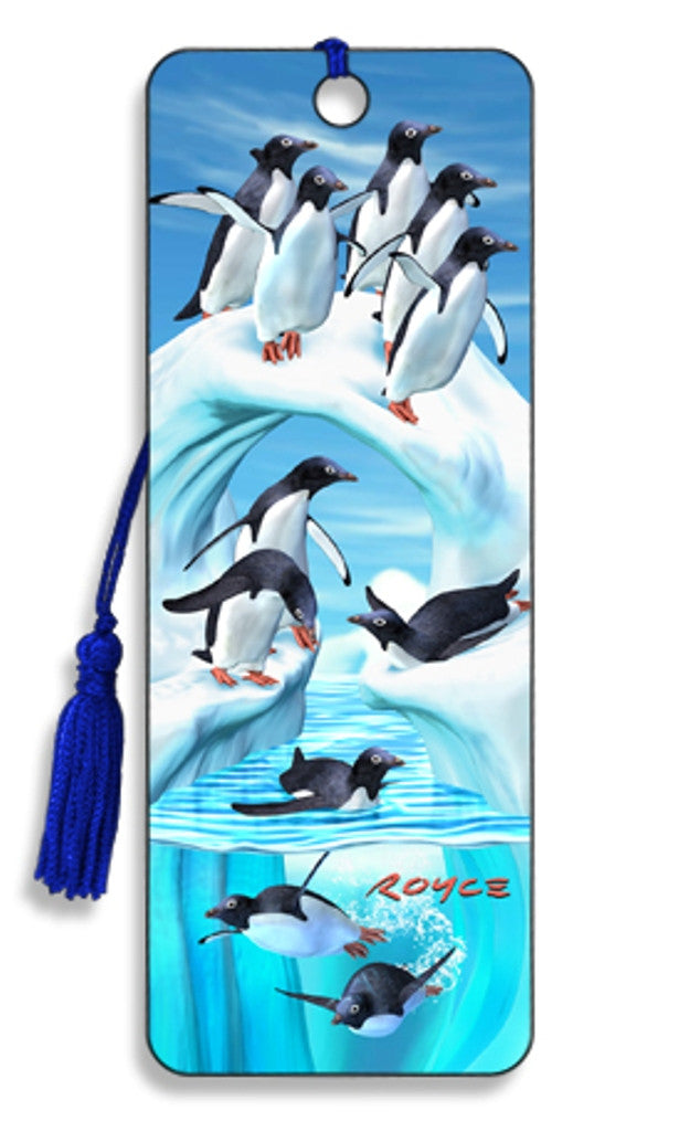 Iceberg and Penguins 3D Lenticular Bookmark by Artgame - Off The Wall Toys and Gifts