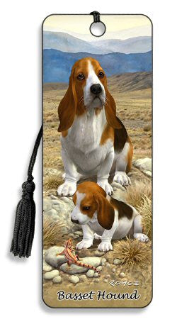 Basset Hound Dog 3D Lenticular Bookmark by Artgame - Off The Wall Toys and Gifts