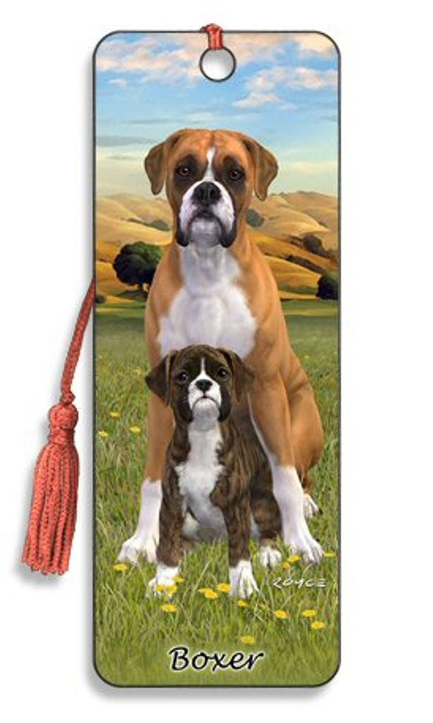 Boxer Dog 3D Lenticular Bookmark by Artgame