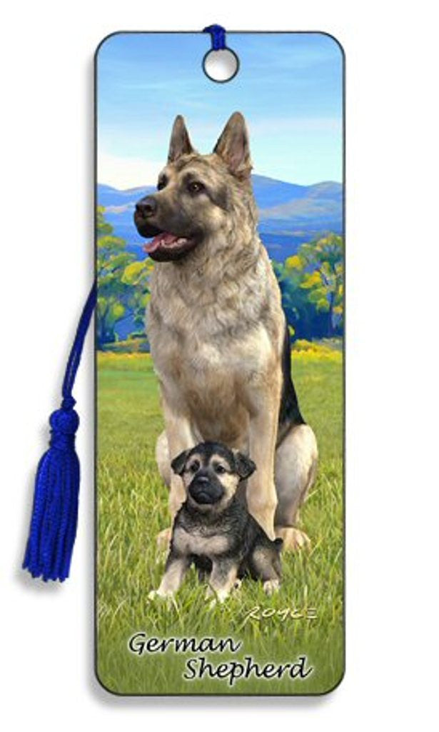 German Shepherd Dog 3D Lenticular Bookmark by Artgame - Off The Wall Toys and Gifts
