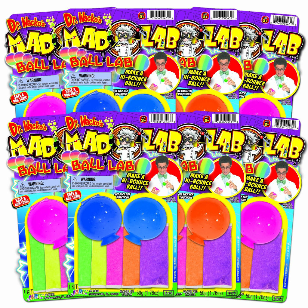 Dr. Wacko's Ball Lab DIY Bouncy Ball Party Favor 7 Pack