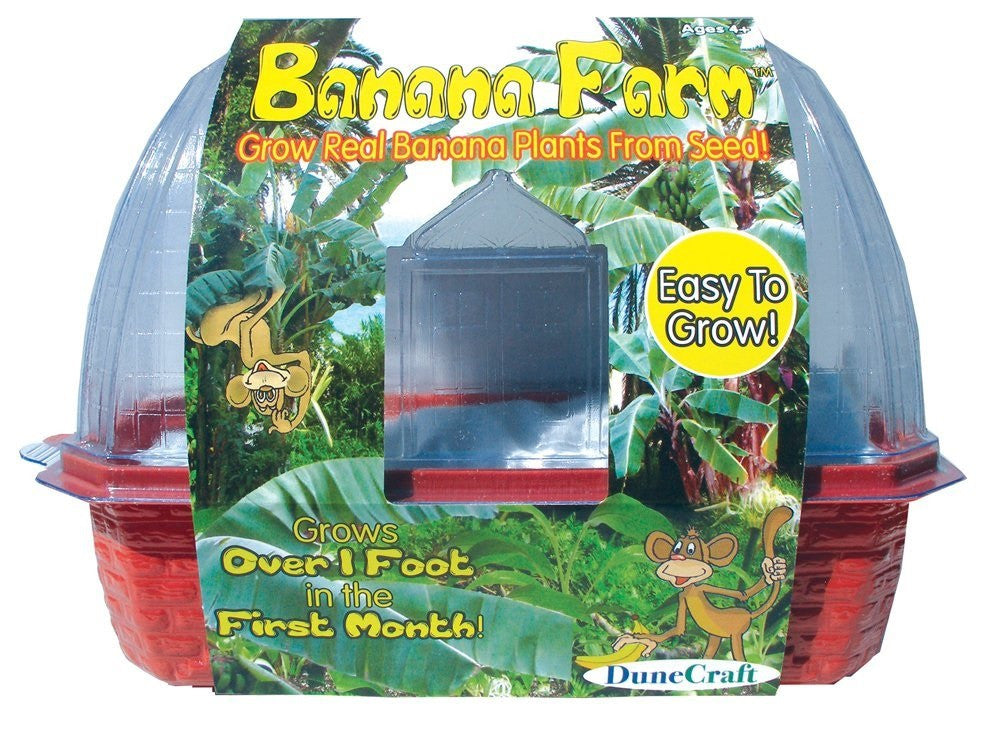 Banana Farm Windowsill Greenhouse Kit w/Seeds