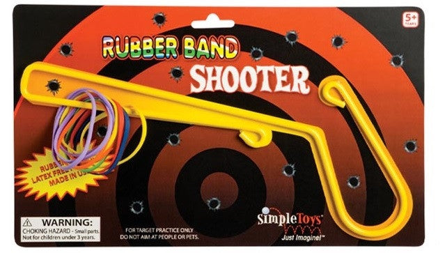 Old Fashioned Fun: Rubber Band Shooter by Simple Toys - Off The Wall Toys and Gifts