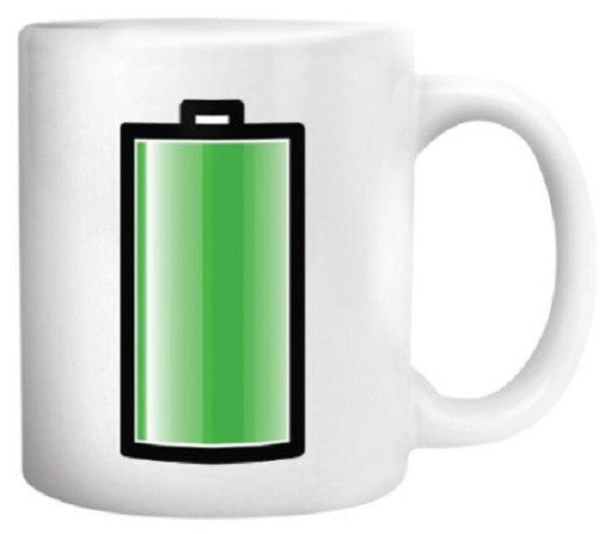 Battery Morph Coffee & Beverage Heat Sensitive Color Changing Mug - Off The Wall Toys and Gifts