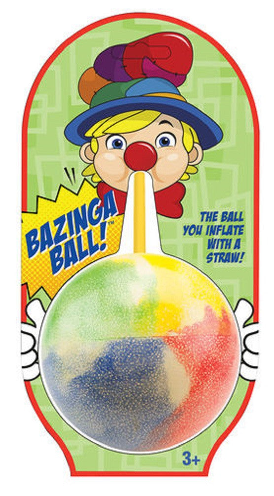 Bazinga Ball Inflates to 9 Inches with Straw By Mega Fun - Colors Vary