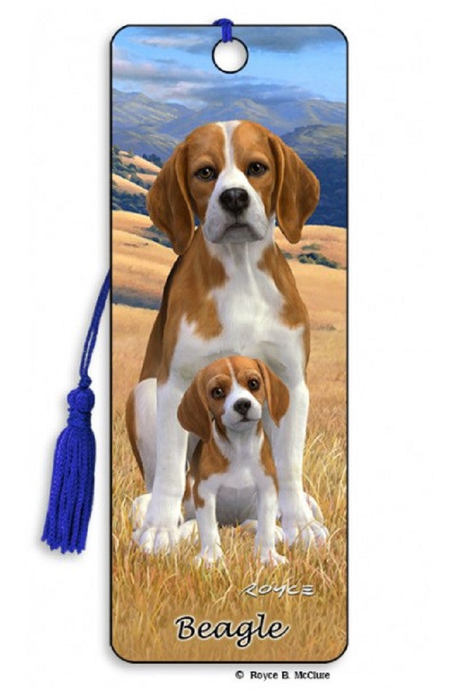 Beagle Dog 3D Lenticular Bookmark with Tassel by Artgame