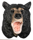 Mounted Black Bear Attack Hanging Wall Art Plaque - Off The Wall Toys and Gifts