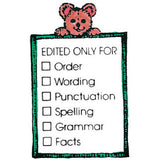 Edited Only For- Bear w/List Rubber Stamper: Teachers Aid - Off The Wall Toys and Gifts