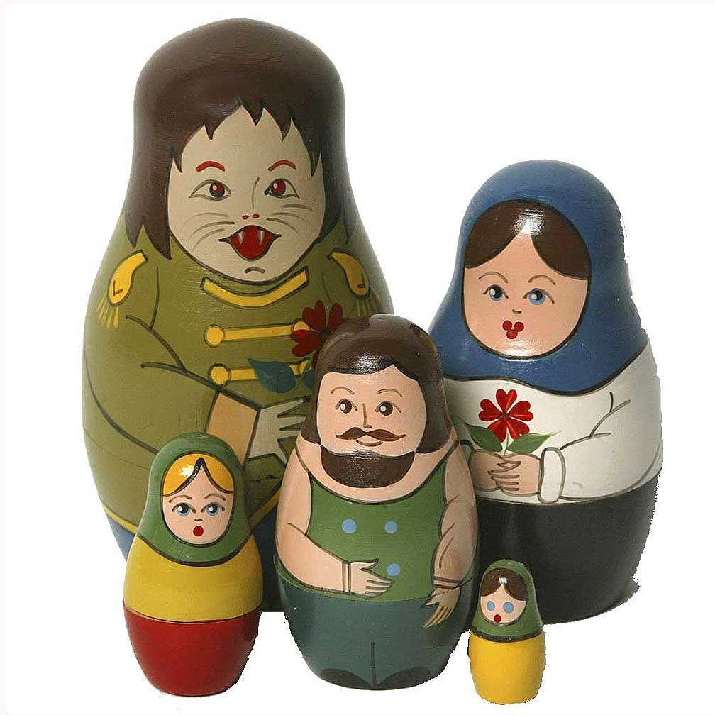 Beauty & the Beast Matryoshka Russian Nesting Dolls - Set of 5 - Off The Wall Toys and Gifts