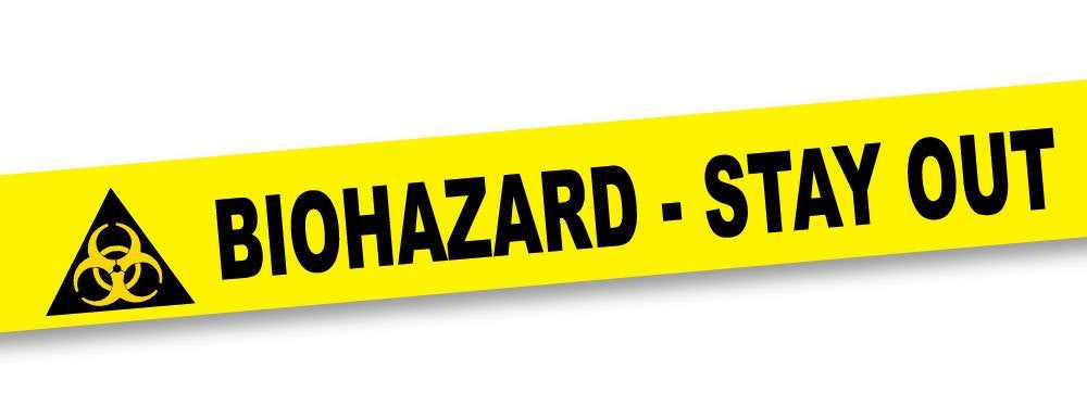 Biohazard Stay Out Barricade Tape