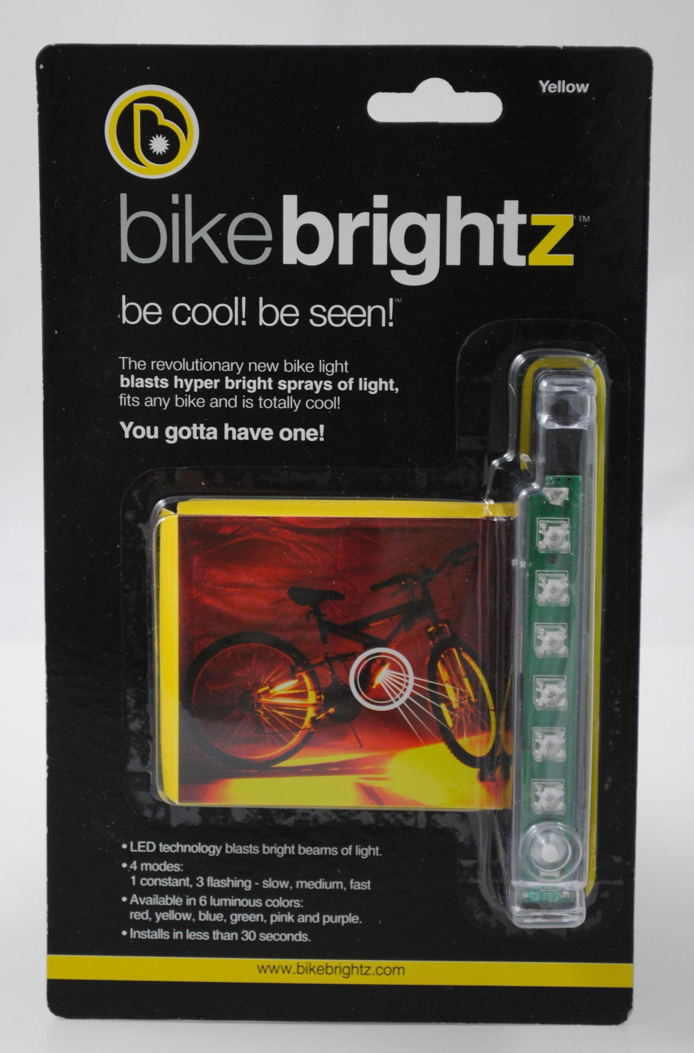 Bike Brightz by Brightz, Ltd. - Mellow Yellow - Off The Wall Toys and Gifts