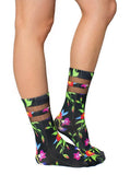 Black Ivy Mesh Crew Socks OSFM by Living Royal