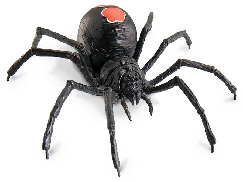 Scurry and Scare Pull-Back Action Black Widow Spider
