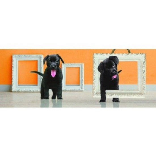 Animated Curious Black Lab Puppies 3D Bookmark - Ruler By Emotion Gallery