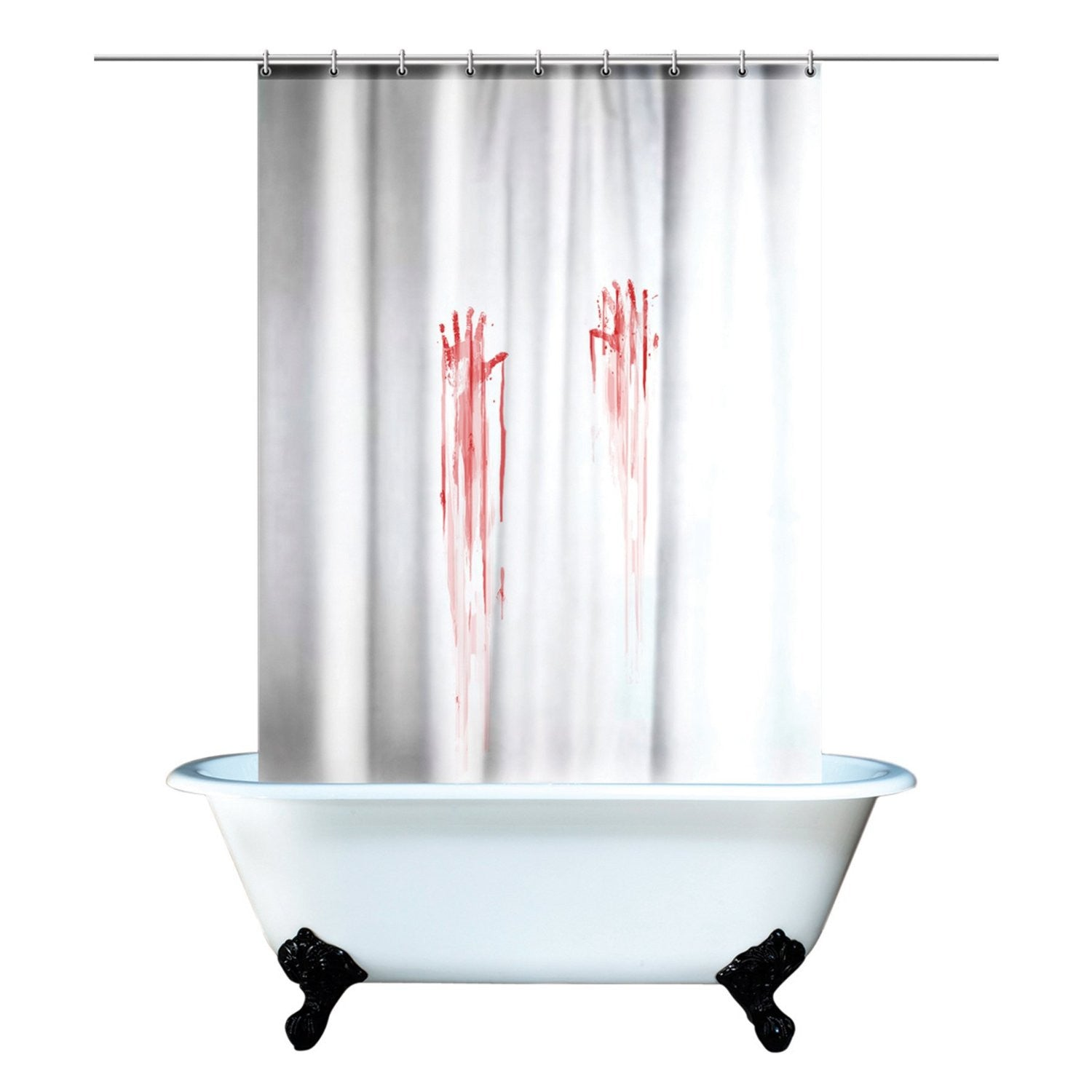 Blood Bath Shower Curtain By Spinning Hat - Off The Wall Toys and Gifts