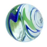 25mm Handmade Art Glass Flash-light Marbles Set of 3 w/Stands