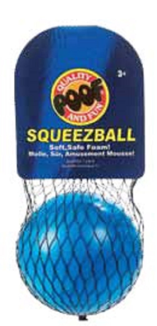 Poof-Slinky SqueezBall - Blue Soft Foam Ball - Off The Wall Toys and Gifts