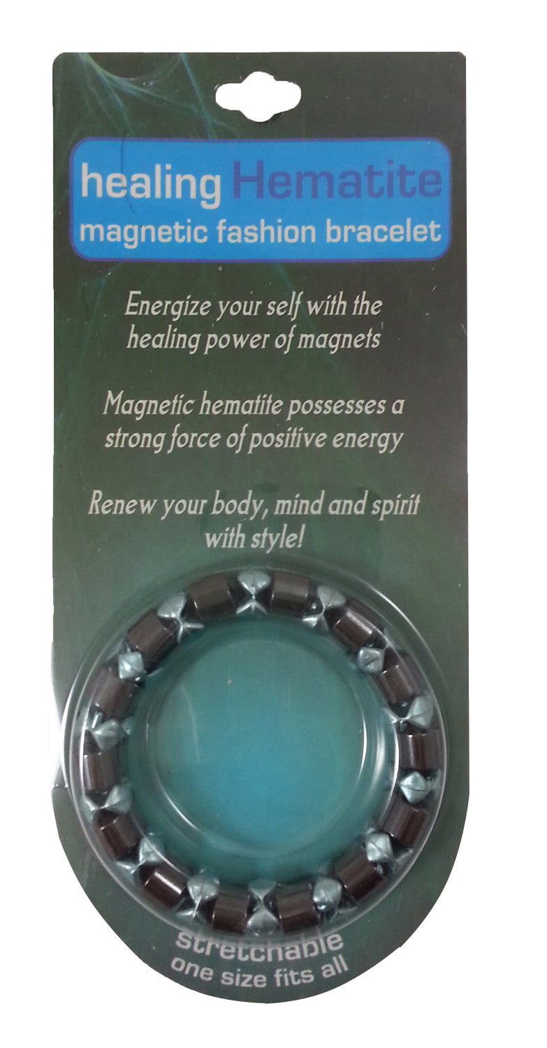 Healing Hematite Magnetic Bracelet - Colors Vary - Off The Wall Toys and Gifts