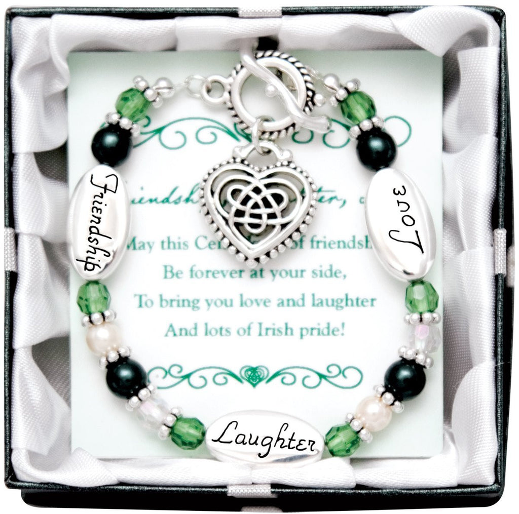 Expressively Yours Irish Celtic Heart Charm Bracelet