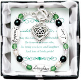 Expressively Yours Irish Celtic Heart Charm Bracelet - Off The Wall Toys and Gifts