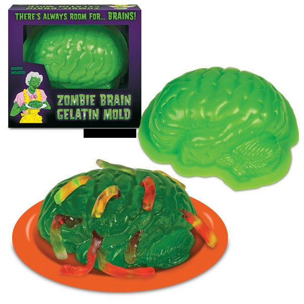 Zombie Brain Gelatin Mold - Brain Shaped Mold - Off The Wall Toys and Gifts