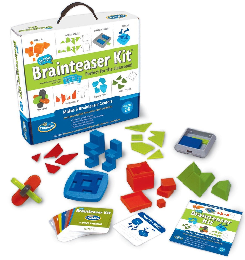 A-Ha! Brain Teaser Classroom Kit w/8 Different Challenges for Grade 2-8, by ThinkFun