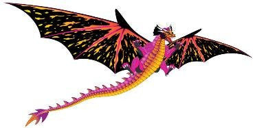 "Huge Fantasy Dragon Kite - 64"" Wingspan - Off The Wall Toys and Gifts"