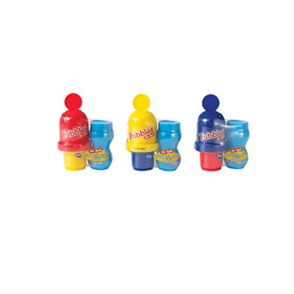 Fubbles No-Spill Bubble Tumbler Minis Pack of 3 Primary Colors - By Little Kids