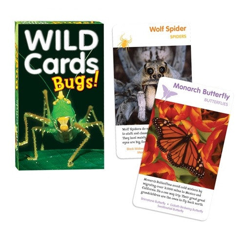 Wild Cards:BUGS! 3 Games In One Insect  Deck - Off The Wall Toys and Gifts